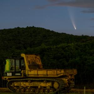 7/13 午前3時のネオワイズ彗星。