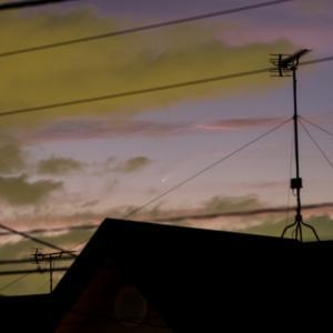 7/14 午後8時のネオワイズ彗星。