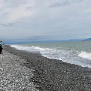 梅雨の切れ間に三保松原で海岸ウォーキング  (^o^)ノ イエー!