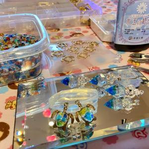 みえが作る琉球ガラスを使ったパーツ