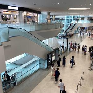 福岡空港 国内線は、人が多い。