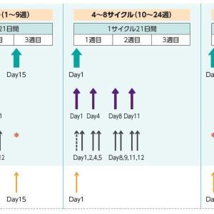 DVd療法 初回治療入院(7日目) ベルケイド2回目