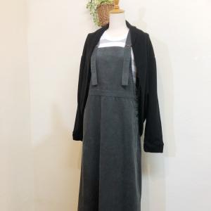 「blue willow」コーデュロイジャンパースカート