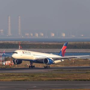 いい色になってくる時間帯、再び2タミデッキより(11月14日 羽田空港)