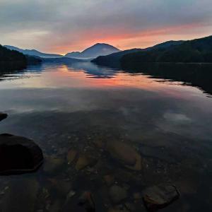 夕焼け♪野尻湖~♪
