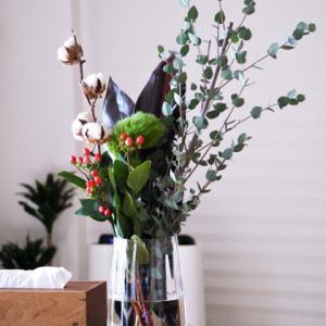 1束390円ユニクロで花を買う。