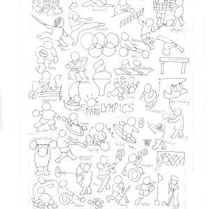 オリンピック刺繍キットの制作に入りました~~!