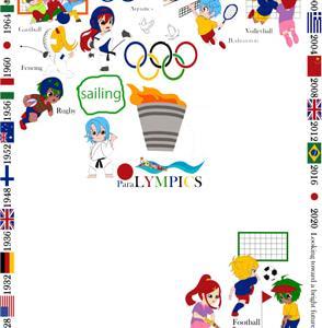 オリンピック刺繍、また少し、進みました~~♪