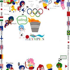 オリンピック刺繍 また競技が、増えました~~!
