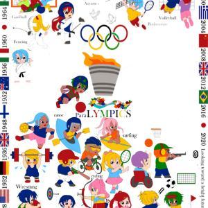 オリンピック刺繍、進みました~~!