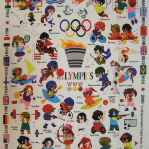 オリンピック刺繍、サンプル出来上がってきました~~♪