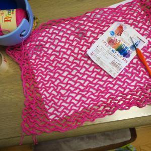 ハマナカピッコロで作るネット編みのエコバッグ