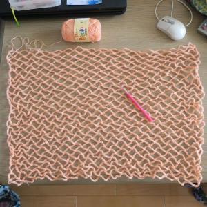 ネット編みからエコバッグになるまで。