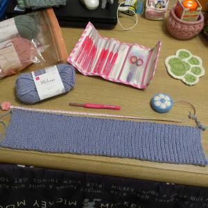 かぎ針編みで1目ゴム編み風ヘアバンド