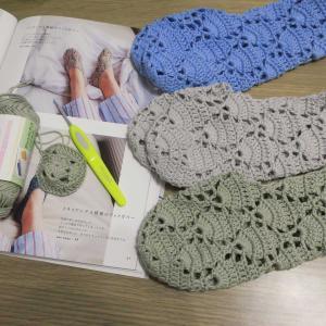 フットカバー編みにはまってます。