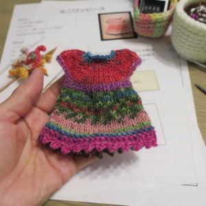 #ivyミニワンピースを編みました。