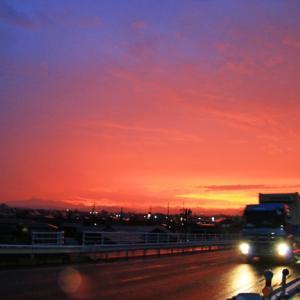 夜明け前の国道