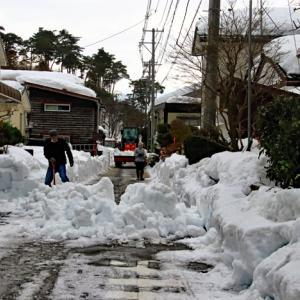 町内の道路除雪、排雪