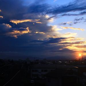 今日の朝空