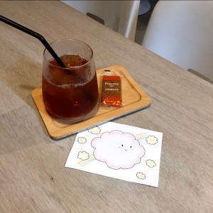 こはくコーヒーさんと中崎町博覧会のイベントでイラストコラボ♪(*^^*)