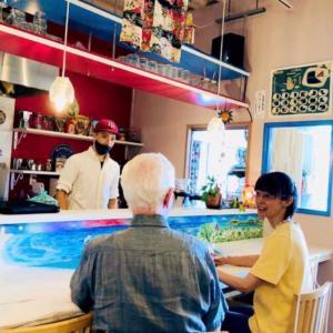 カフェアート★カフェ店内★カウンターに絵を描く♪お仕事★
