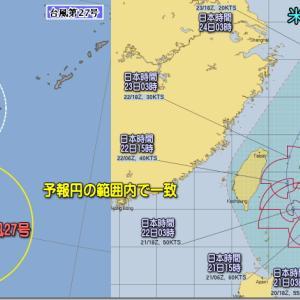 冬型ゆるんで小春日和。台風27号北上!影響は?(191121)