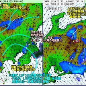 西日本中心の梅雨空 次第に東日本へ(200531)