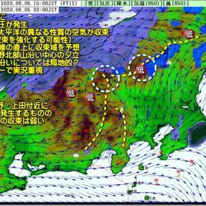 日本海側から回復?太平洋側中心に曇り・にわか雨の可能性(200606)