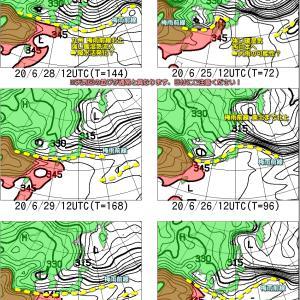 沖縄を除いて天気は回復傾向だけど?(200623)