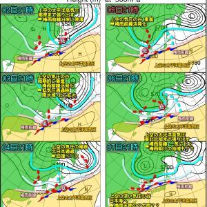 梅雨前線活発化!明日にかけて大雨警戒!でも梅雨明け早め?(200630)