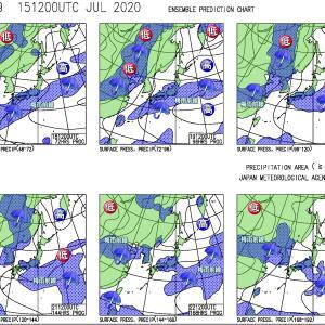 日本海側から回復傾向も局地的に大気の状態不安定。南西諸島は戻り梅雨の大雨も?(200716)