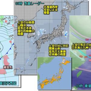 北日本中心の冬型緩み気圧の谷通過 週末は東~北日本中心の冬型へ!(201127)