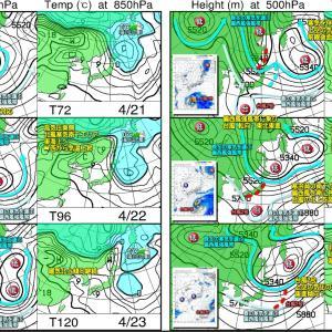 高気圧の晴天 西から拡大!向こう一週間の空模様と台風2号最新データ!(210419)