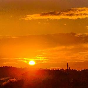 今日の、夕陽と満月シリーズです~っヽ(*´∀`)ノ♪