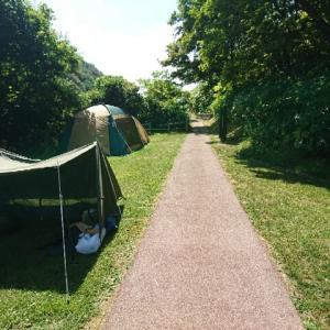 初のソロキャンプに行ってきました『泊村盃野営場』