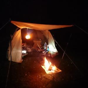 今年最後の泊まりキャンプは「戦うソロキャン」 【夜の部】