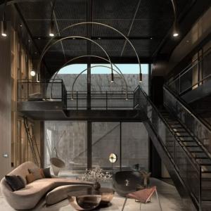 階段を上り切ったエリアをデザイン