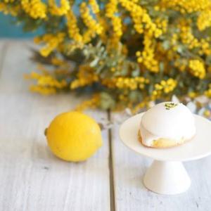 レモンケーキのアイシングは白いレモンチョコレート