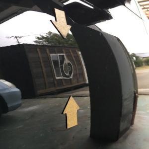 トヨタ ヴィッツのドア修理 つくば市より