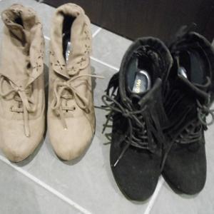 履いてなかったブーツ2足を処分