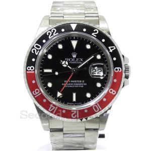 ロレックス GMTマスターⅡ 16710 (USED) 赤×黒 ベゼル