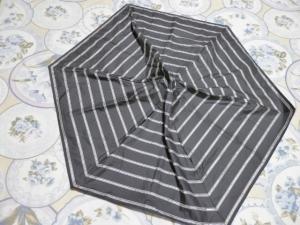 礼拝から帰って古傘バッグ作りの算段を