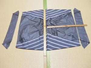 古傘バッグ作りの準備