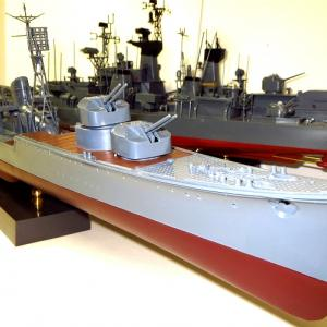 1/200 日本模型 初月 素組塗装製作記8 後部構造物ゴチャメカ類