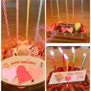 お誕生日ケーキと秋の味覚
