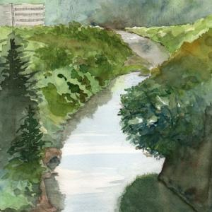 上愛子付近の広瀬川