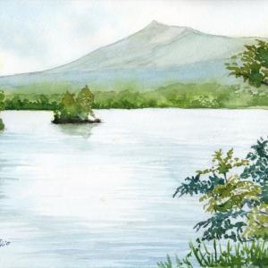 大沼公園と駒ケ岳