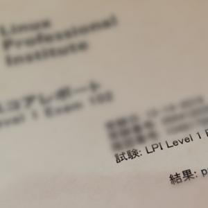 2019/12/14 LPI Level 1 Exam 102合格!