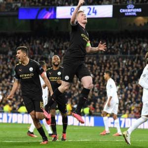 <UEFA-CL>決勝T1回戦第1戦 レアル・マドリー×マンチェスター・シティ、リヨン×ユベントス 結果