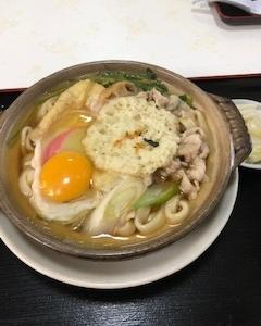 城東食堂の鍋焼きうどん と 今週の予定(17~22日)